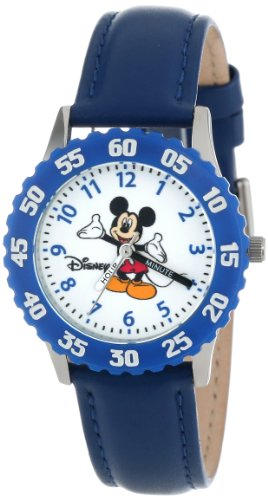 Disney Kids' W000005 Mickey Mouse Stainless Steel Time Teacher Watch
