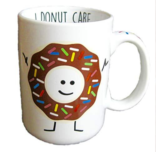 Funny I DONUT CARE Donut Man 16 oz Coffee Mug