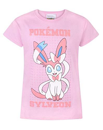 Pokemon Sylveon Girls T-Shirt (11-12 Years) Pink