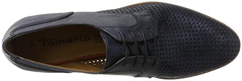 Tamaris 23209, Zapatos de Cordones Oxford para Mujer Azul (NAVY/METALLIC 864)