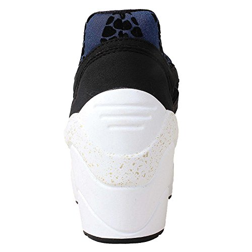 Puma DISC WEDGE WNS Scarpe Moda Sneakers Nero Blu per Donna