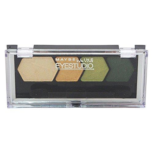 Maybelline Studio Color Plush Quad Eye Shadow for Women, 135 Enticing Emerald, 0.09 Ounce ()