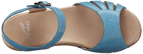 Sandalias De Tacón Dansko Mujeres Marlow, Bañado En Azul