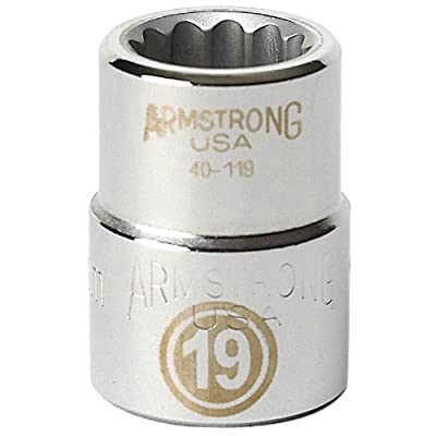Armstrong 40-120 20mm, 12 Point, 3/4-Inch Drive Metric Standard Socket: Home Improvement