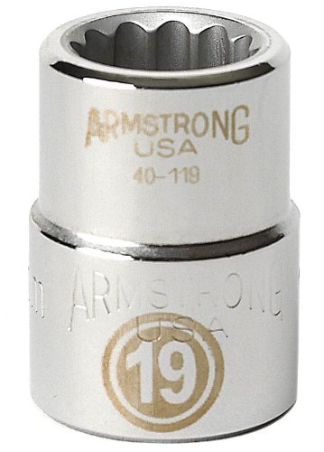 UPC 781412401585, Armstrong 40-158 58mm, 12 Point, 3/4-Inch Drive Metric Standard Socket