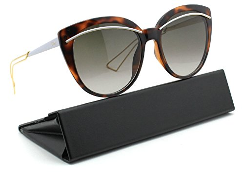 Christian Dior LINER Women Round Gradient Sunglasses (Havana Rose Gold Frame, Brown Gradient Lens - Dior Case Sunglasses