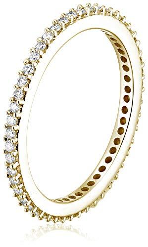 Vir Jewels 1/2 cttw Diamond Eternity Ring 14K Yellow Gold Wedding Band Size 6 by Vir Jewels (Image #1)