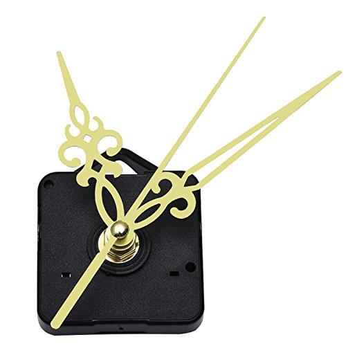 Rose Clock Parts - Mudder Quartz Wall Clock Movement Mechanism Golden Hands 3/ 25 Inch Maximum Dial Thickness, 1/ 2 Inch Total Shaft Length