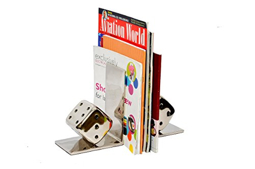 Decorative bookends silver paint iron metal book ends unique sturdy dice bookends - Sturdy bookends ...