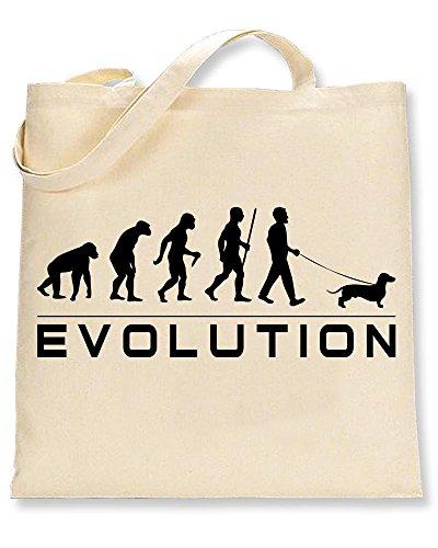 Evolution Sausage Of A Tote Bag Dog Shaw Tshirts® Dachshund 5xXFEXRw