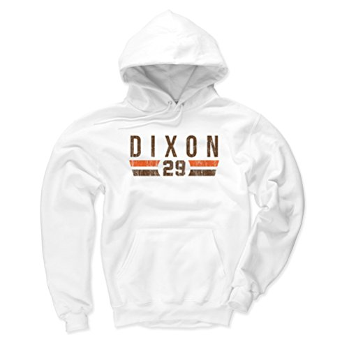 Cleveland White Browns Fleece (500 LEVEL Cleveland Browns Men's Hoodie - XXX-Large White - Hanford Dixon Font N)