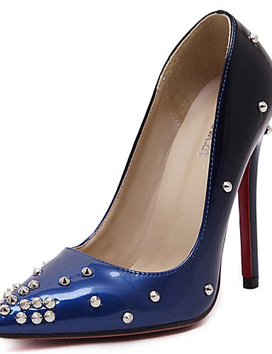 ZQ Zapatos de mujer-Tac¨®n Stiletto-Confort / Puntiagudos-Tacones-Boda / Vestido-PU-Azul / Rojo , red-us8.5 / eu39 / uk6.5 / cn40 , red-us8.5 / eu39 / uk6.5 / cn40 red-us5.5 / eu36 / uk3.5 / cn35