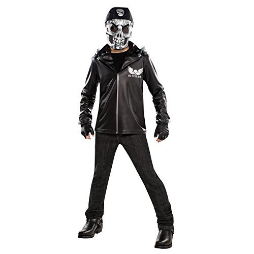 Ghost Rider Costume For Boys (New Amscan Teens Halloween Bad to the Bone Ghost Rider Boys Fancy Dress Party Costume by Amscan International)