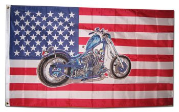 Chopper/USA - 3' x 5' Polyester Novelty ()