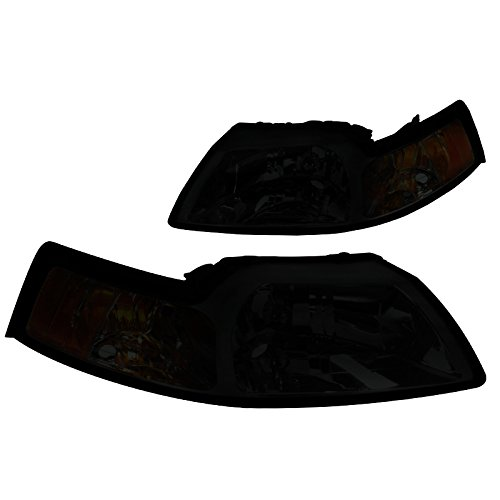 Spec-D Tuning 2LH-MST99G-RS Ford Mustang Smoke Tint Head Lights Lamps Pair