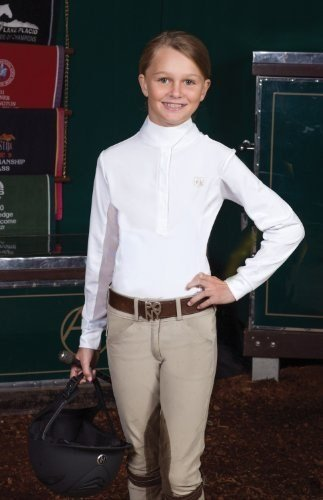 Romfh Childs Competitor LS Show Shirt L White