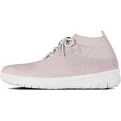 FitFlop Women's Uberknit Slip-on High Top Sneaker Hi Trainers | Fashion Sneakers