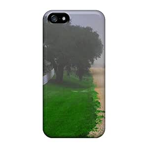 High-quality Durable Protection Case For Iphone 5/5s(along The Misty Road)