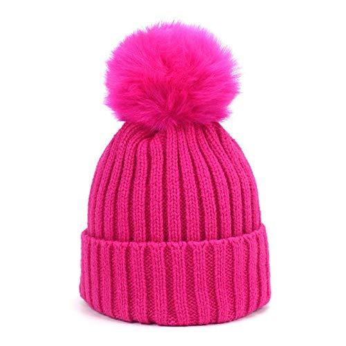 2584378748f926 World 2 home Faux Fur Pompom Hat Winter Hat Men Skullies Beanies Women Warm  Cap Elasticity Knit Beanie Hats Children Pom Pom Hats Girls Boys:  Amazon.in: ...