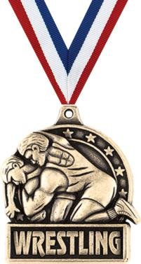 Crown Awards Wrestling Medals - 1.75