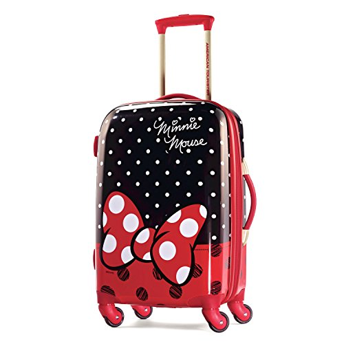 American Tourister Disney Minnie Mouse Red Bow Hardside Spinner 21, Multi, One Size by American Tourister