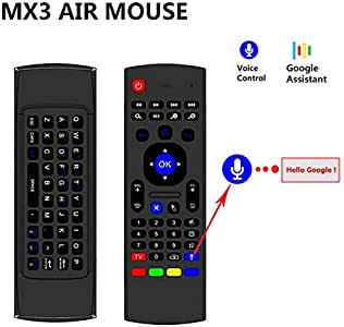 MX3 Air Mouse Smart Voice Control remoto de voz 2.4 G RF inalámbrico teclado y ratón Combo compatible con Android TV Box, Smart TV, PC, HTPC, Windows, Mac OS: Amazon.es: Electrónica