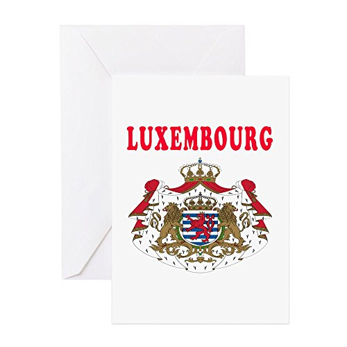 Arms Stationery Design - CafePress - Luxembourg Coat Of Arms Designs - Greeting Card, Note Card, Birthday Card, Blank Inside Glossy