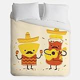 Chips Salsa Duvet Cover / Music Fieasta Bedroom Decor / Made in USA / Great Bedroom Artwork