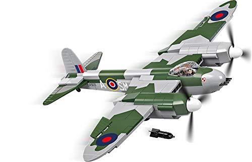 Avião Bombardeiro Rei Unido de Havilland Mosquito Blocos para Montar com 70 Peças, Cobi Blocos de Montar, Cinza