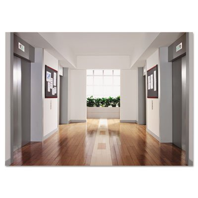 Prestige Plus Magnetic Fabric Bulletin Board, 48 x 36, Mahogany Frame, Sold as 1 Each