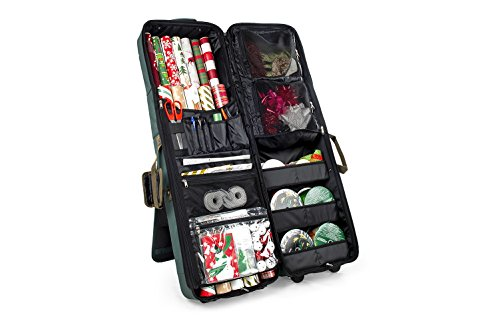 Deluxe Gift Bag, Wrapping Paper, Craft Station and Storage Container by TreeKeeper - Containers Storage Cart