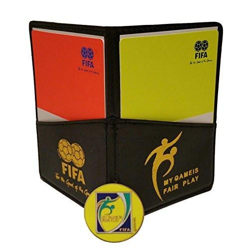Football Soccer Referee Wallet with Red and Yellow Card + Free Game Coin (Football Coin)