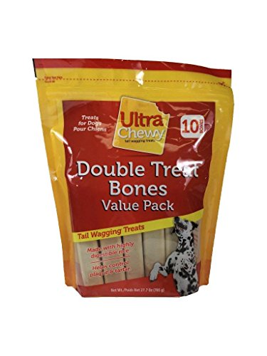 Double Bone (Ultra Chewy Double Treat Bone, 27.7-Ounce Bags (Pack of 3))