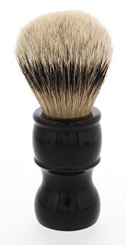 West Coast Shaving 100% Silvertip Quality Shaving Brush with Dense Knot. (Black-Beacon)