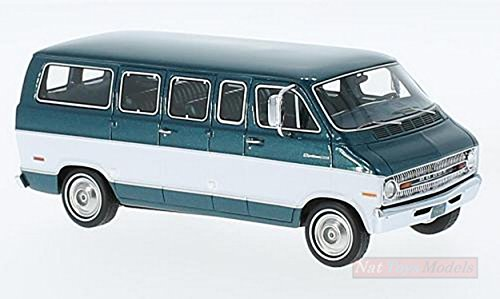 NEO SCALE MODELS NEO46942 DODGE SPORTSMAN 1973 MET.GREEN/WHITE 1:43 DIE CAST - Neo Scale Models