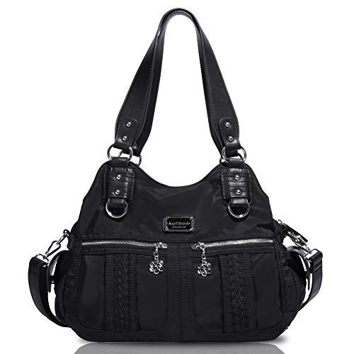 Angel Barcelo Roomy Fashion Hobo Womens Handbags Ladies Purses Satchel Shoulder Bags Tote Leather Bag Black