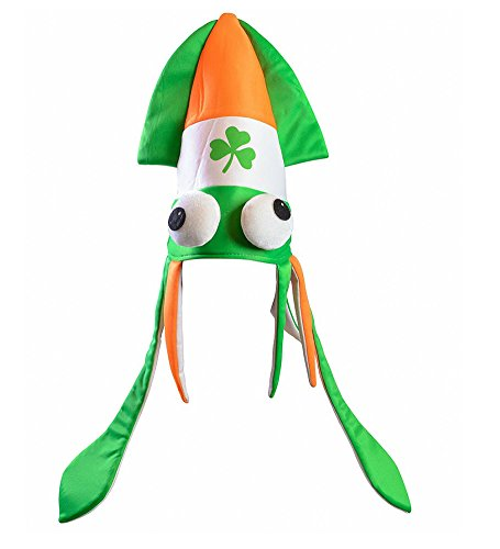 [St Patricks Hats - Funny Squid Saint Patrick Accessories by Funny Party Hats®] (St Patrick The Saint Costume)