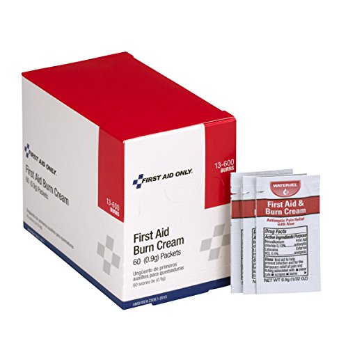 Pac-Kit by First Aid Only 13-600 First Aid/Burn Cream, 0.9 gm Packet (Box of 60)