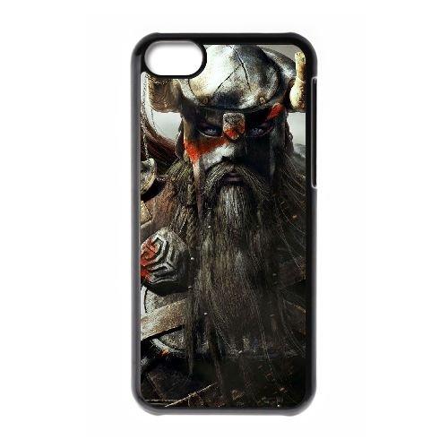 J0U79 The Elder Scrolls en ligne T6P3MG cas d'coque iPhone de téléphone cellulaire 5c couvercle coque noire RT8BMG6CG