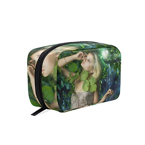Makeup Bag Beautiful Girl In The Fairy Forest Cosmetic Pouch Clutch]()