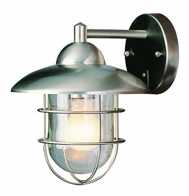Trans Globe Lighting ST 1-Light Outdoor Wall Lantern, Stainless Steel
