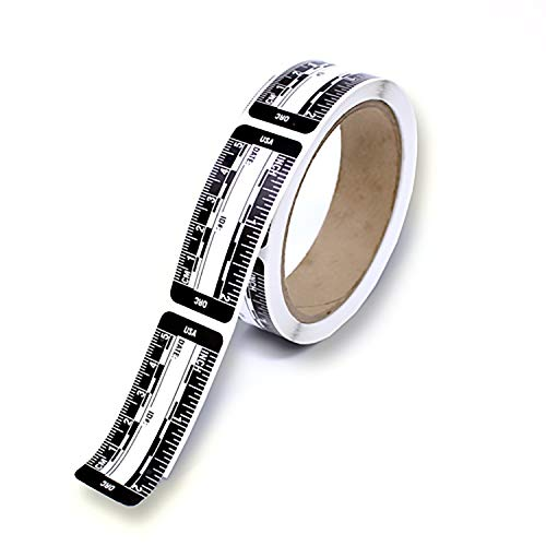 Ruler - Adhesive Backed Decal on a Roll - Fractional/Metric - 2 Inch (5 Centimeter) Long - Left to Right - 200 per Roll - Black