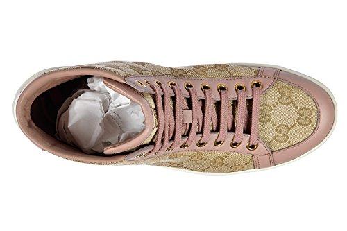 Gucci scarpe sneakers alte donna nuove originale mir soft rosa  Amazon.it   Scarpe e borse a188e808f6f0
