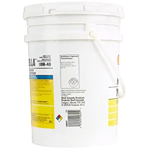 Shell Rotella (550036271) T6 Full Synthetic Heavy Duty 0W-40 Engine Oil - 5 Gallon Pail