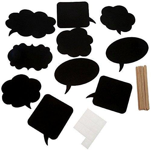3 opinioni per DIKETE® 10 x DIY photo booth lavagna carta vuoto nero con gessetti, cartoncini