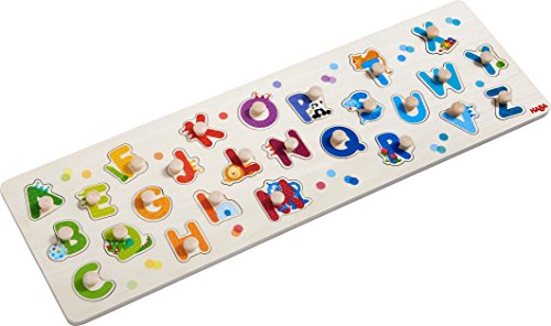 HABA Clutching Puzzle My First ABC | Jigsaw Puzzles for Children, peg Puzzle | 303188