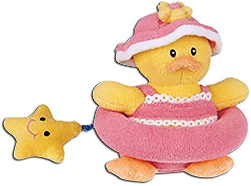 Baby Gund Little Quack Ups Dixie Bathing Beauty Duck Zip Along Plush Stuffed Animal