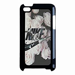 Flowers Background Stylish Logo NIKE Phone Case Cover for Ipod Touch 4th Generation
