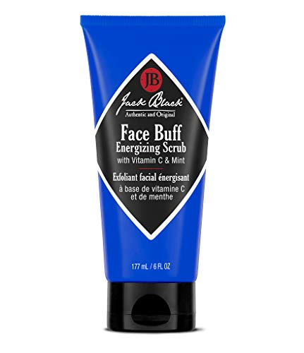 JACK BLACK – Face Buff Energizing Scrub – Deep-Cleaning Pre-shave Cleanser and Scrub, Reduces Ingrown Hairs, Exfoliates Skin, Removes Oil, Dirt, and Dead Skin Cells, 3 and 6 oz. (Beard Shave Lube Conditioning)