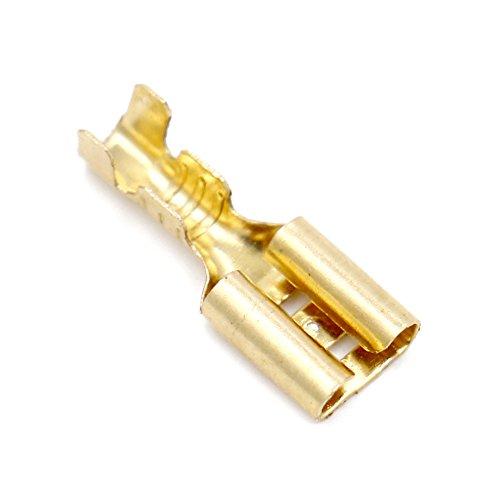 Baomain Female Spade Quick Splice Crimp Terminals 4.8mm Crimp connector Non insulated 100 Pcs